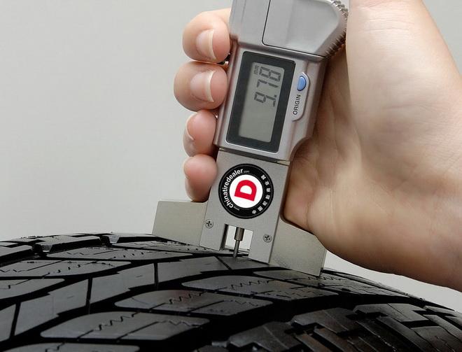 提问:你怎么测量轮胎花纹?